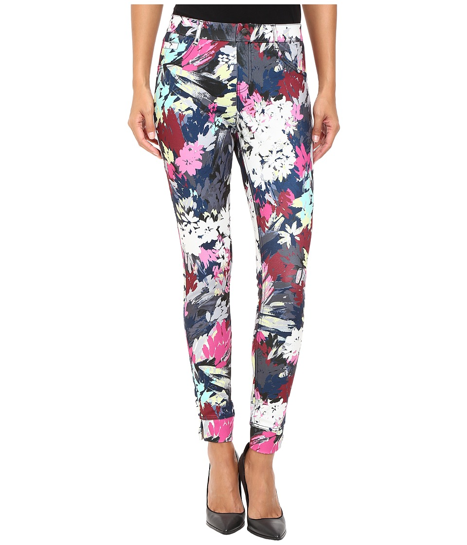 HUE - Floral Twill Leggings (Multi) Women's Casual Pants