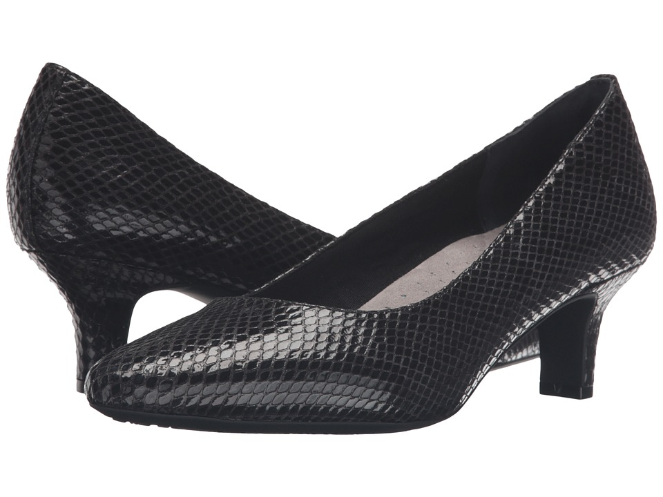 Rockport - Kimly Kirsie Pump (Black Snake) Women's Shoes