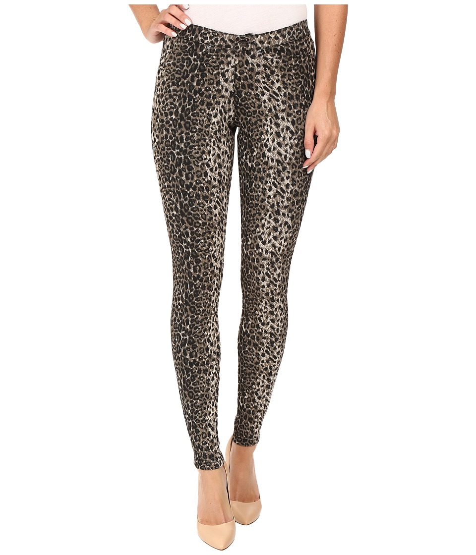 HUE - Animal Denim Leggings (Brown) Women's Jeans