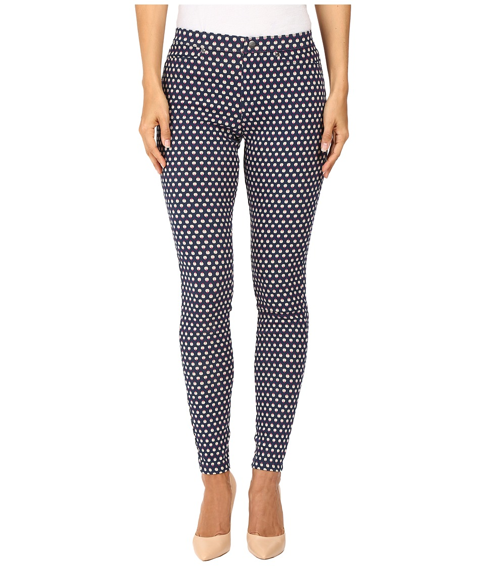 HUE - Peacock Dot Denim Leggings (Oxford Blue) Women's Jeans