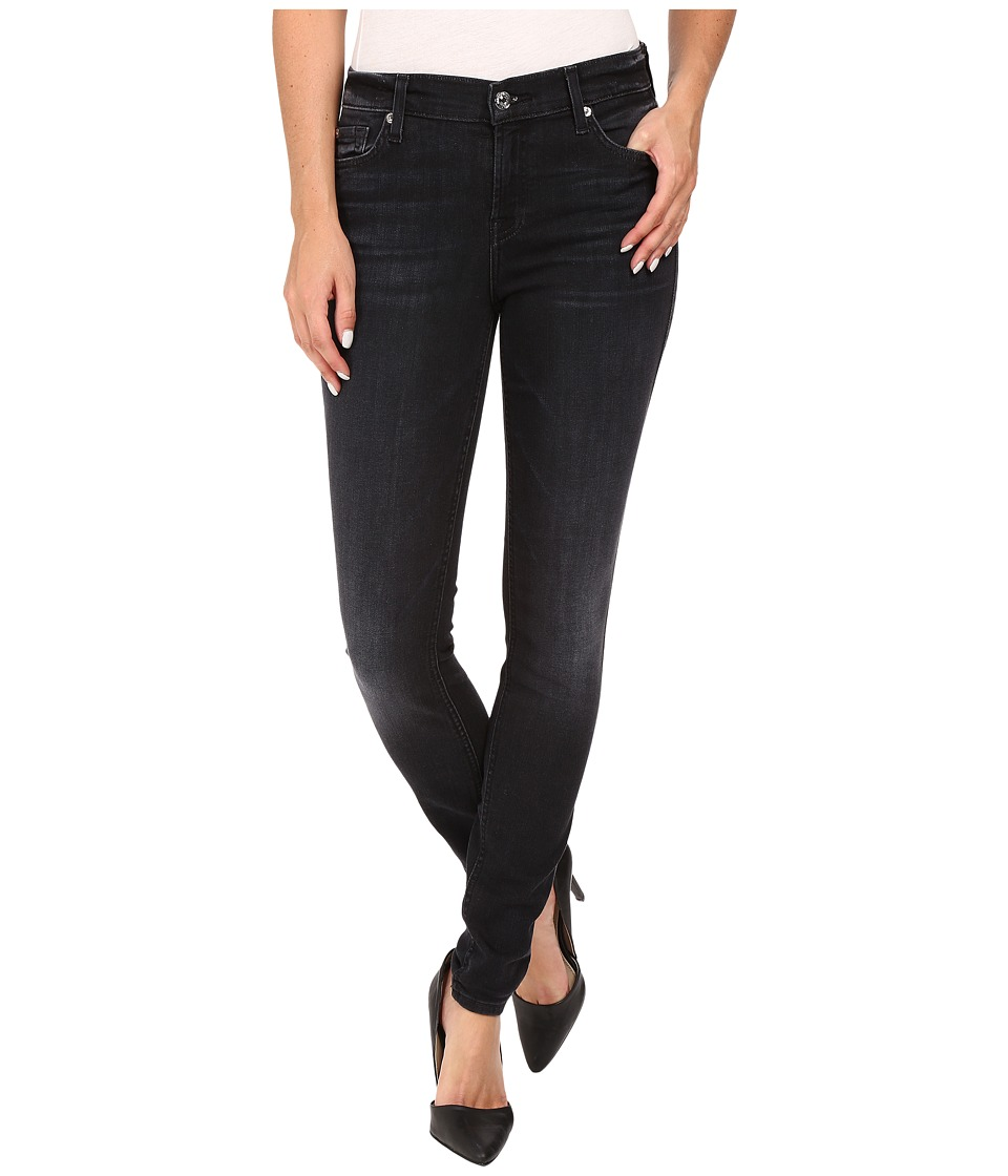 7 For All Mankind - The Skinny in Ashford Black (Ashford Black) Women's Jeans