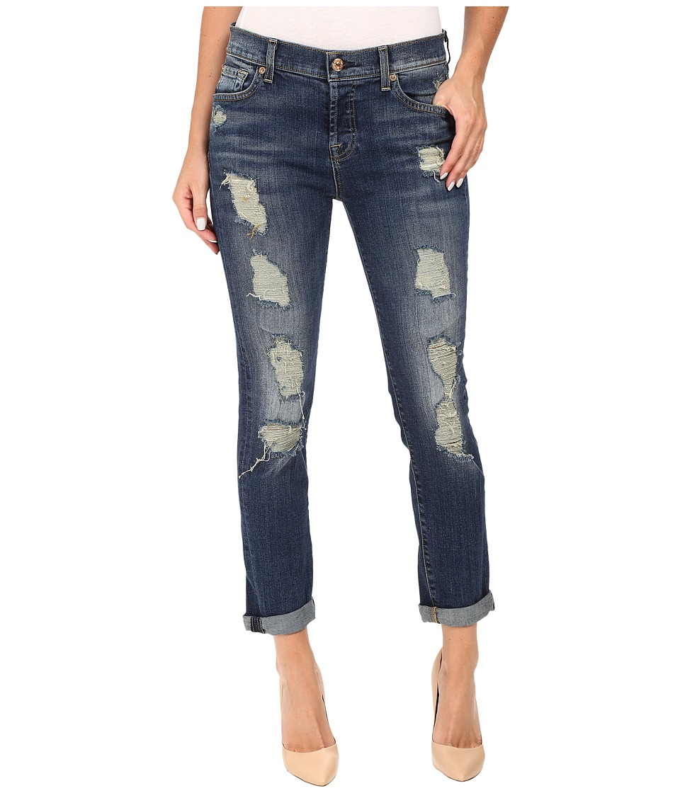 7 For All Mankind - Josefina w/ Aggressive Destroy in Vintage Kensington (Vintage Kensington) Women's Jeans