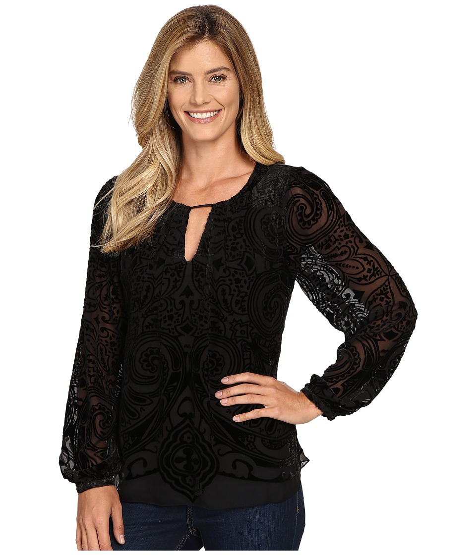 Hale Bob - Throughout The Looking Glass Top (Black) Women's Clothing