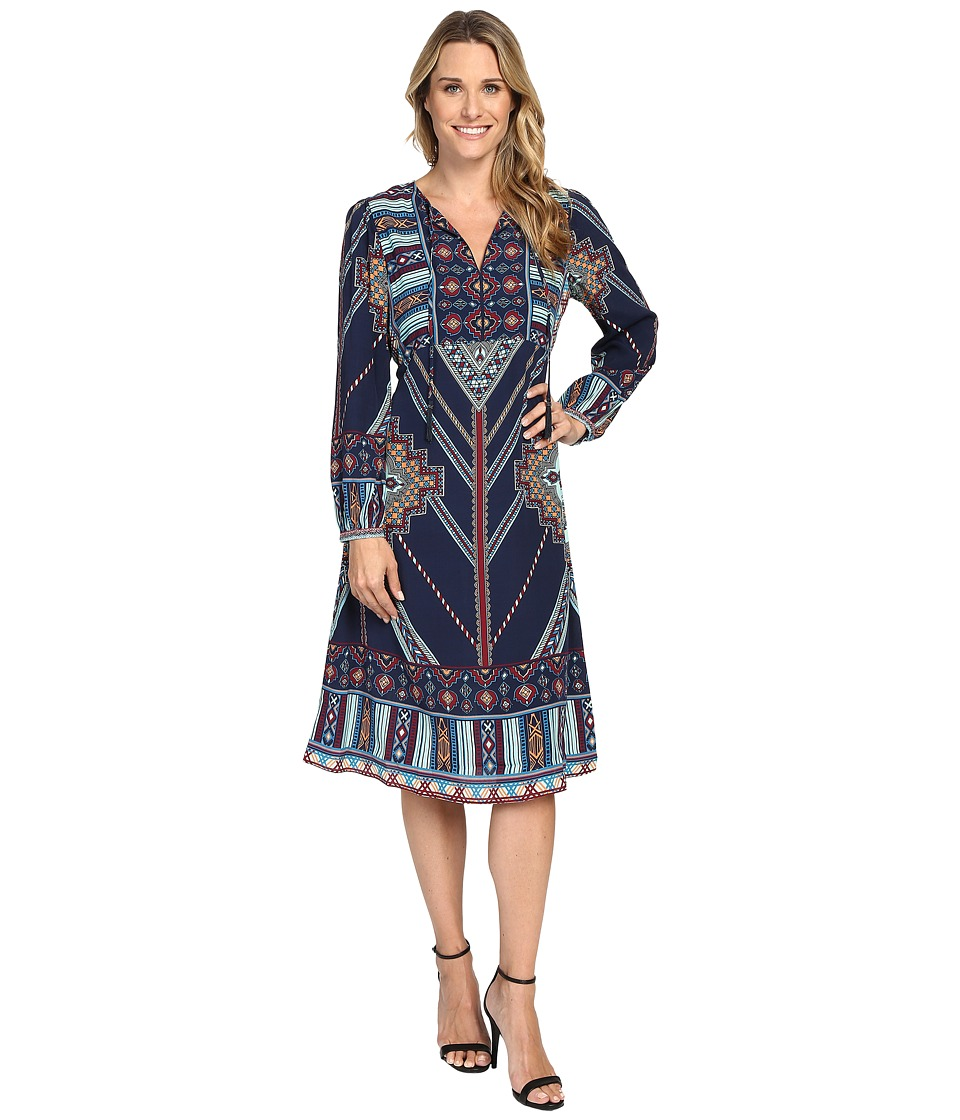 Hale Bob - In Haute Pursuit Dress (Navy) Women's Dress