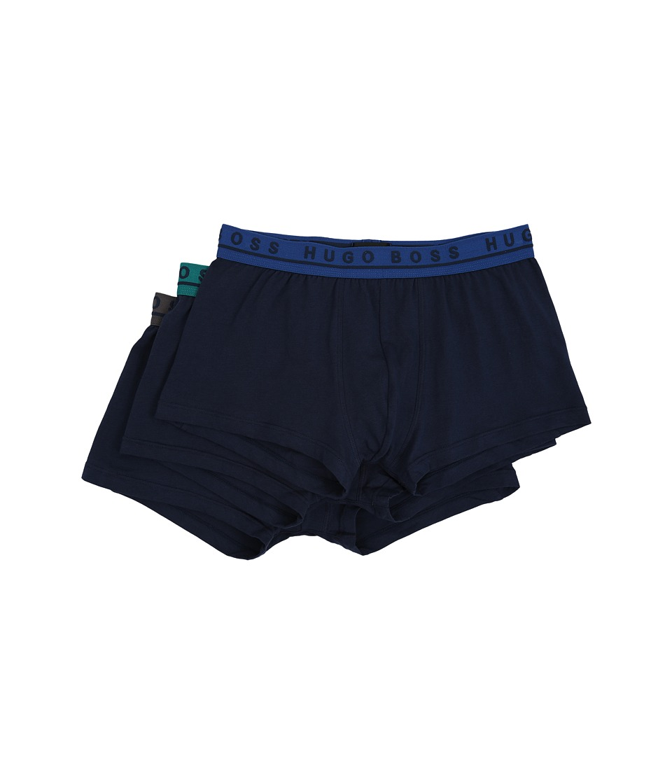 BOSS Hugo Boss - Boxer 3-Pack Fashion Colors (Navy w/ Contrasting Waist Band) Men's Underwear