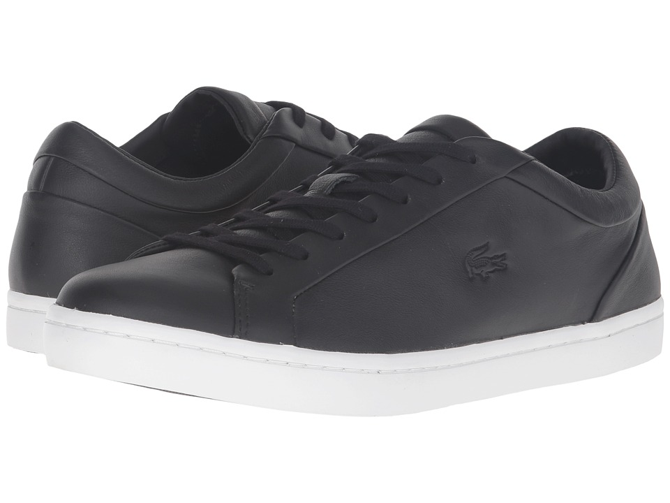 Lacoste - Straightset 316 1 (Black) Men's Shoes