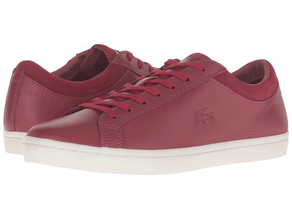 Lacoste - Straightset 316 2 (Dark Red) Men's Shoes
