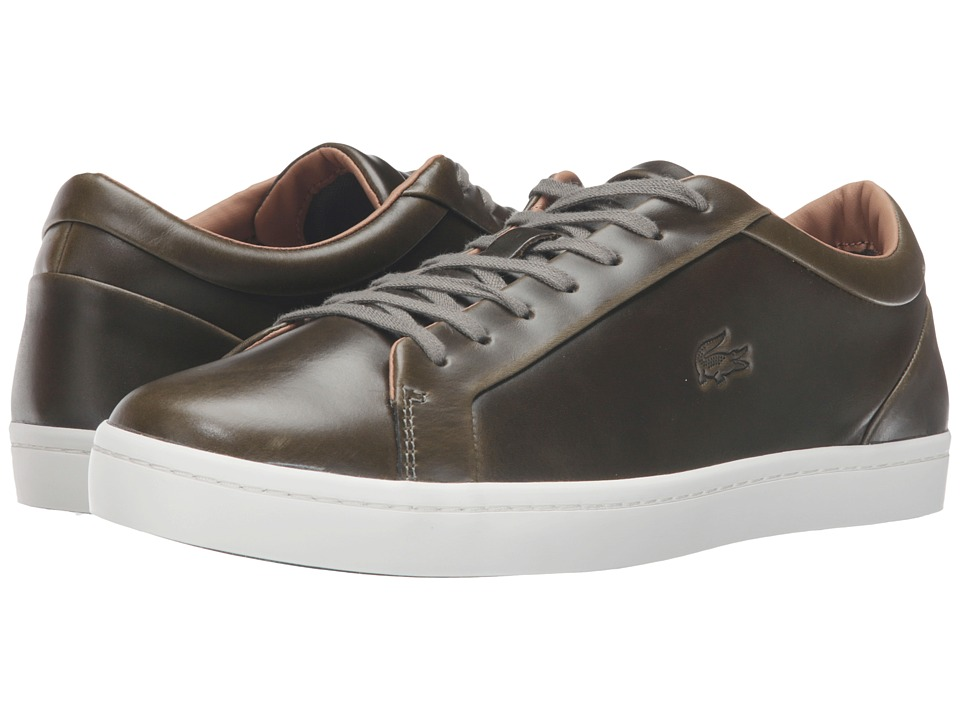 Lacoste - Straightset 316 3 (Khaki) Men's Shoes
