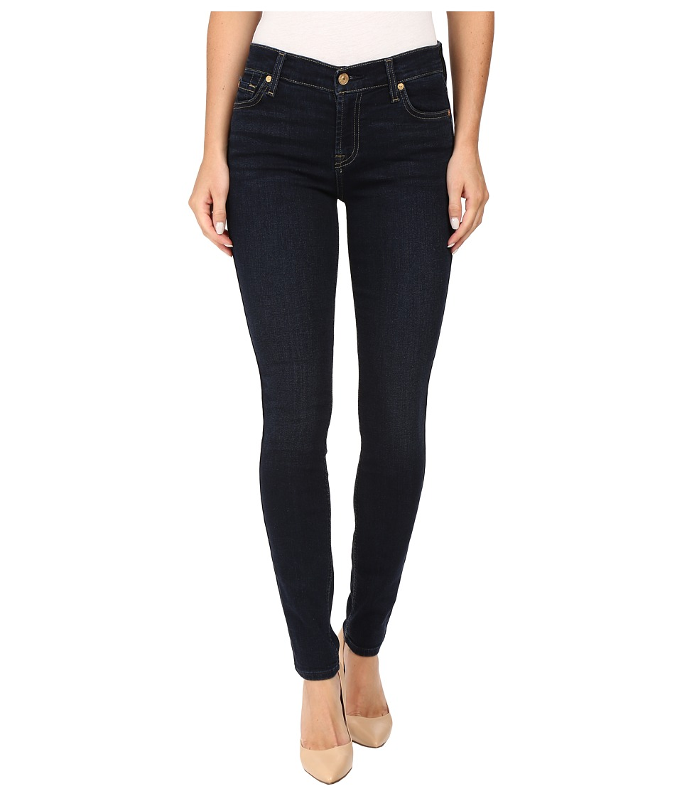 7 For All Mankind - Skinny w/ Squiggle in Dark Dusk Indigo (Dark Dusk Indigo) Women's Jeans