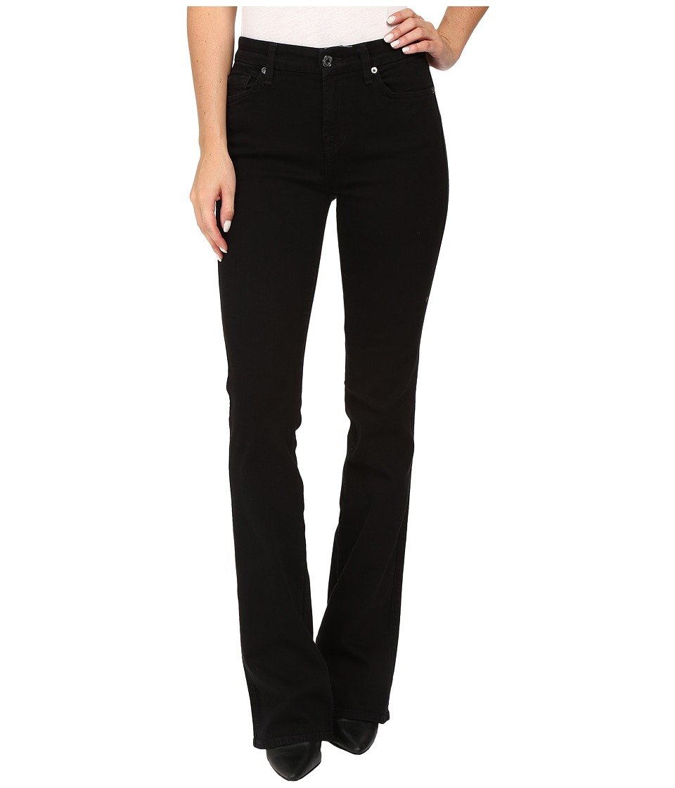 7 For All Mankind - Kimmie Bootcut in Washed Overdyed Black (Washed Overdyed Black) Women's Jeans