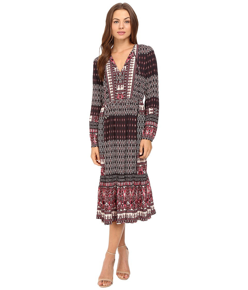 Hale Bob - City Explorer Maxi Dress (Maroon) Women's Dress