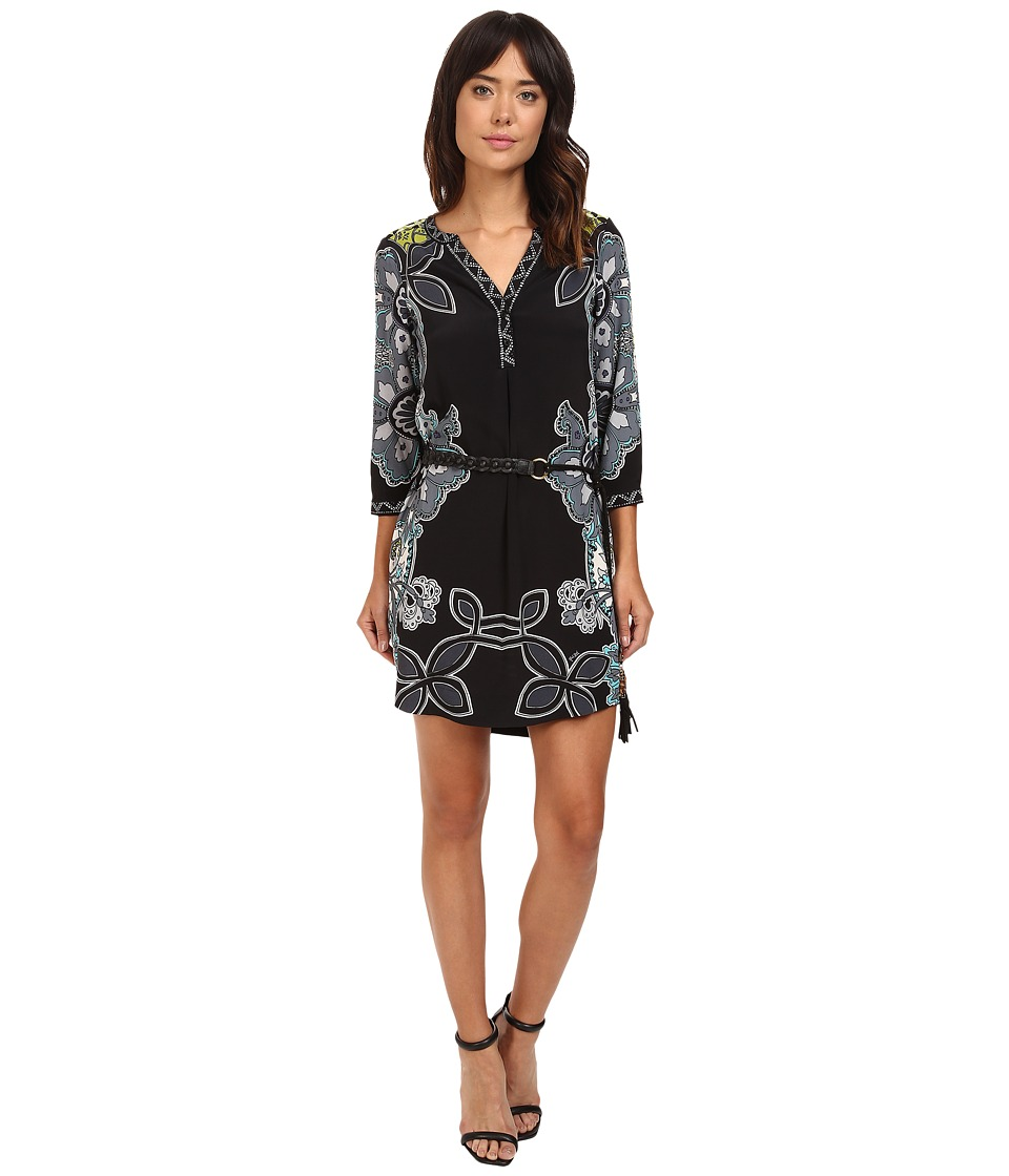 Hale Bob - Culture Vulture Shirtdress (Black) Women's Dress