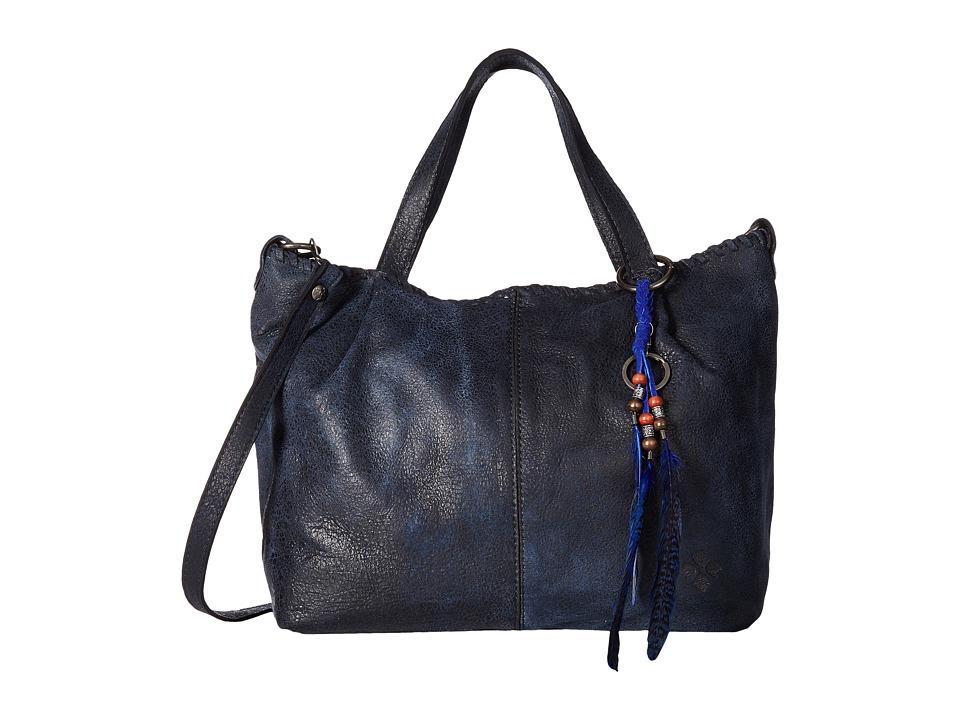 Patricia Nash - Zola Top Zip Tote Satchel (Navy) Satchel Handbags