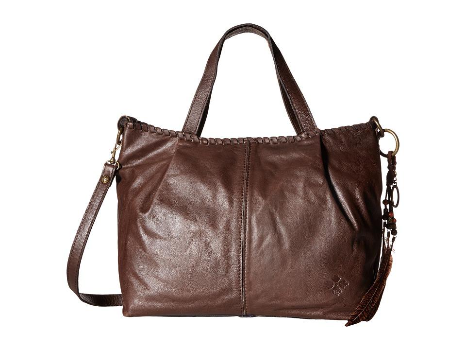 Patricia Nash - Zola Top Zip Tote Satchel (Chocolate 1) Satchel Handbags