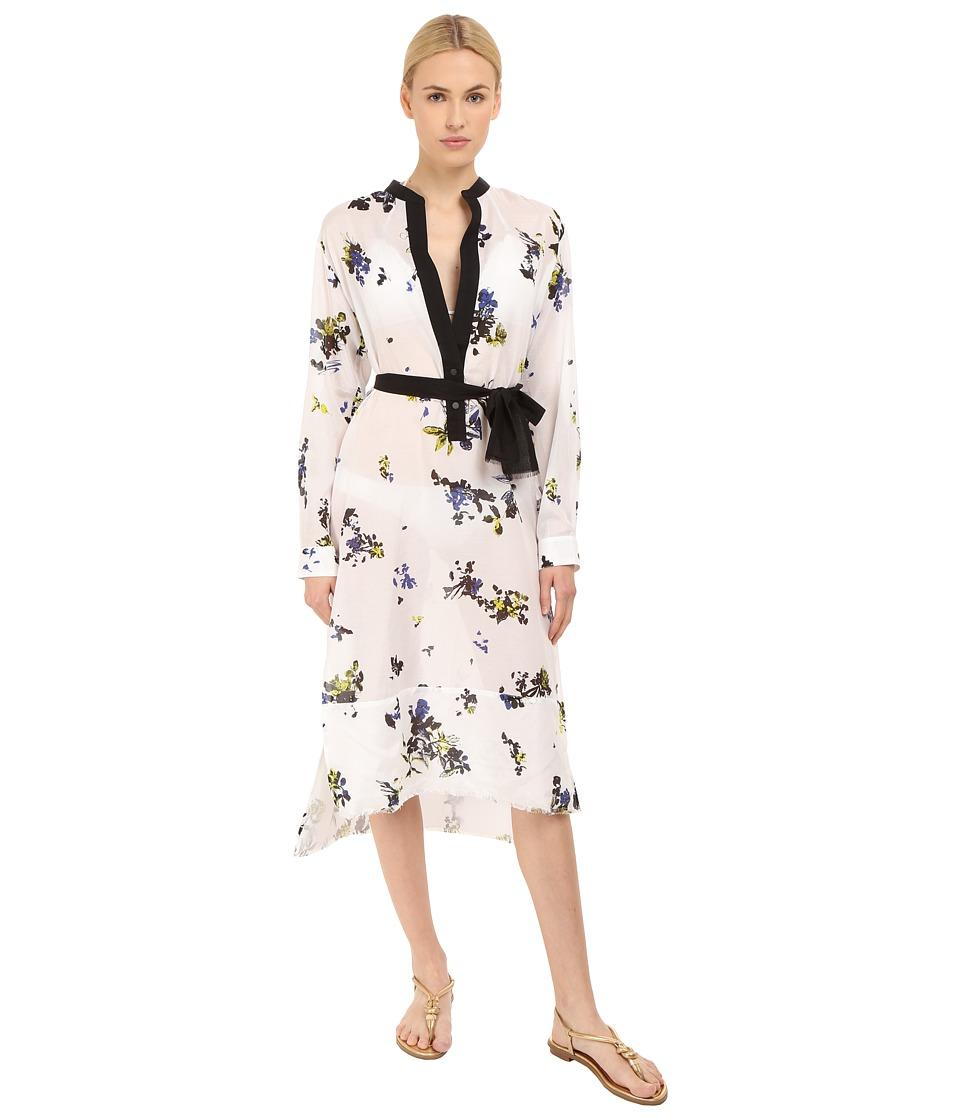 Proenza Schouler Fringe Shirtdress Cover-Up (Whilte) Women