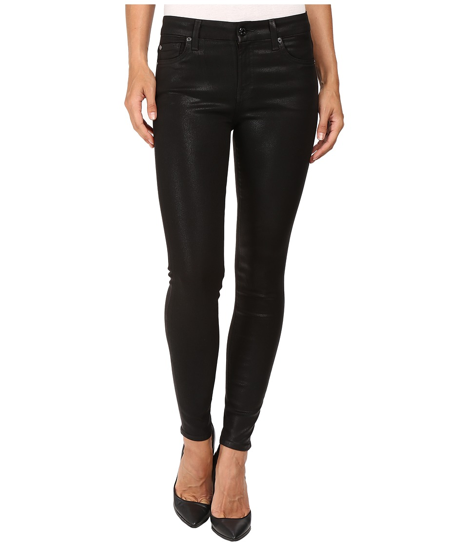 7 For All Mankind The Ankle Skinny in Coated Fashion (Coated Fashion) Women