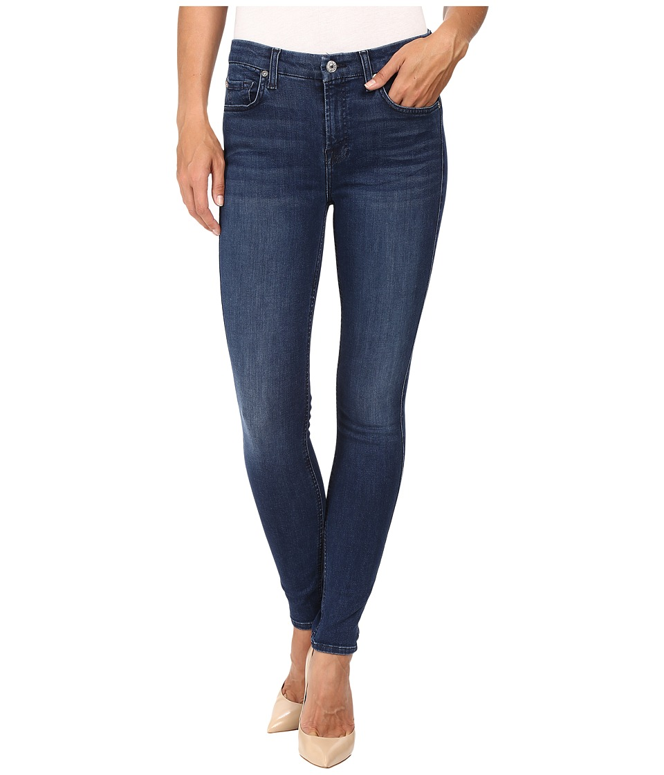 7 For All Mankind The Ankle Skinny w/ Tonal Squiggle in Slim Illusion Luxe Luminous (Slim Illusion Luxe Luminous) Women