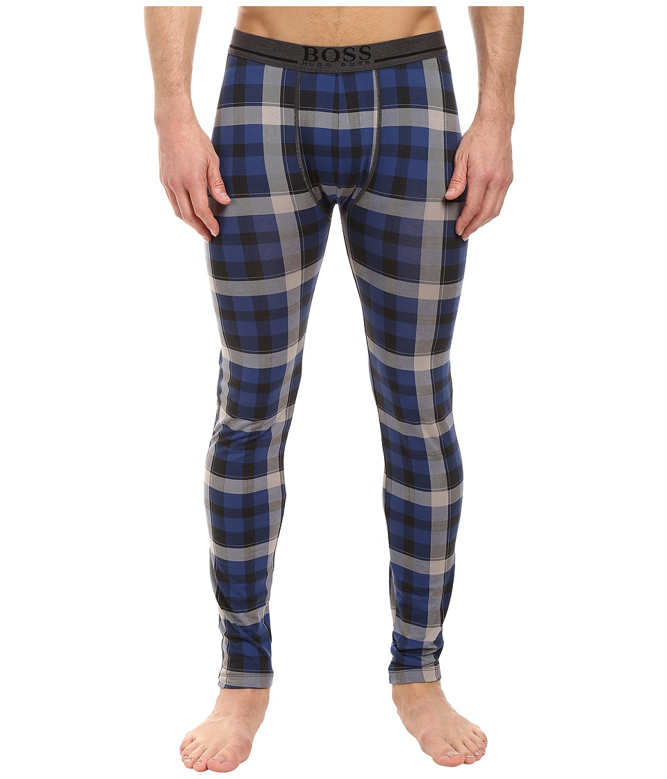 BOSS Hugo Boss - Long John 24 Print (Open Blue 1) Men's Pajama