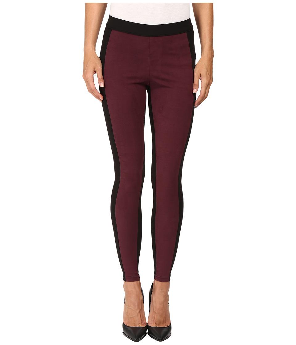 HUE - Blocked Microsuede Leggings (Winetasting) Women's Casual Pants