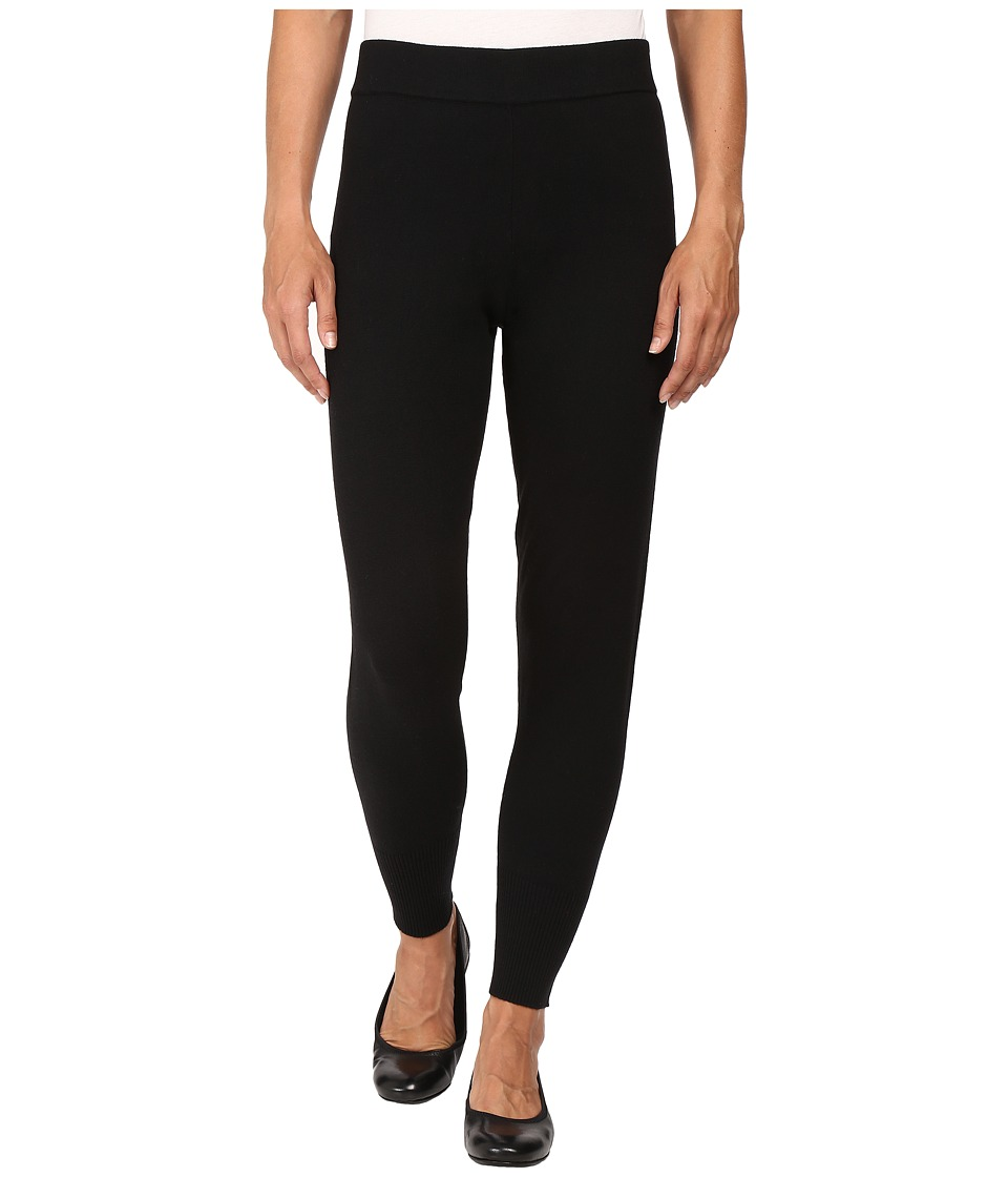 HUE - Sweater Leggings (Black) Women's Casual Pants