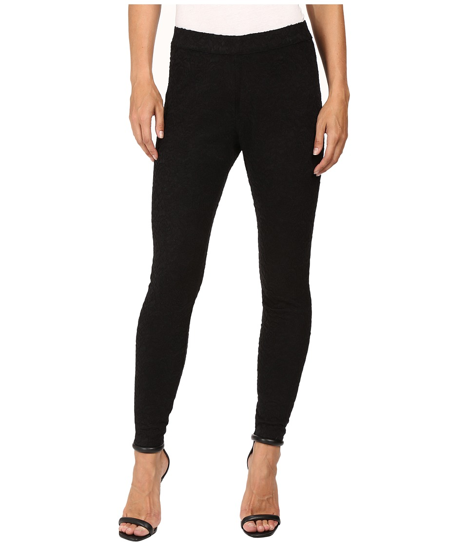HUE - Brushed Lace Leggings (Black) Women's Casual Pants