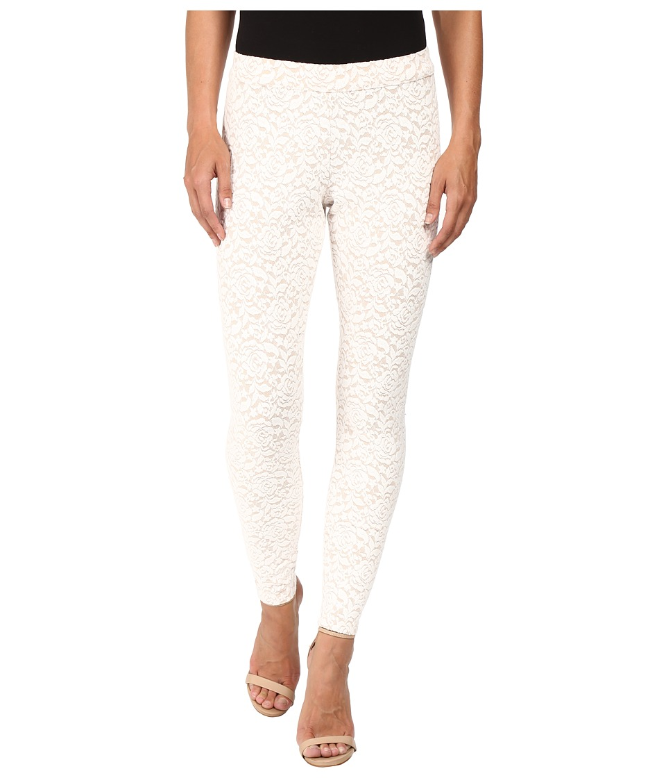 HUE - Brushed Lace Leggings (Cloud Dancer) Women's Casual Pants