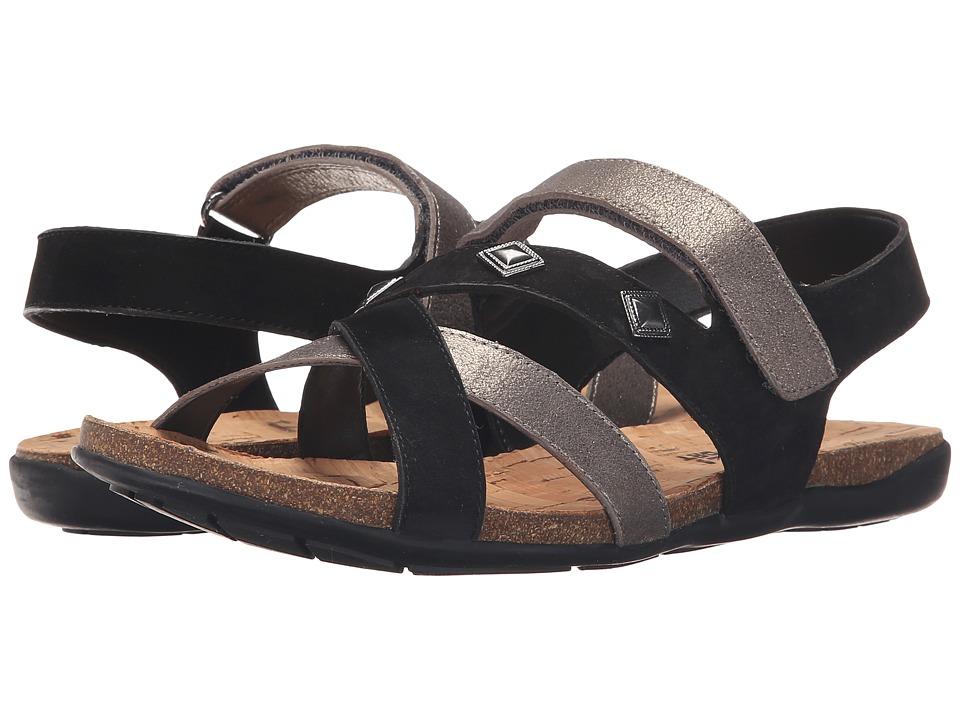 Vaneli - Barry (Pewter Cipria/Black Soft Nabuk) Women's Sandals