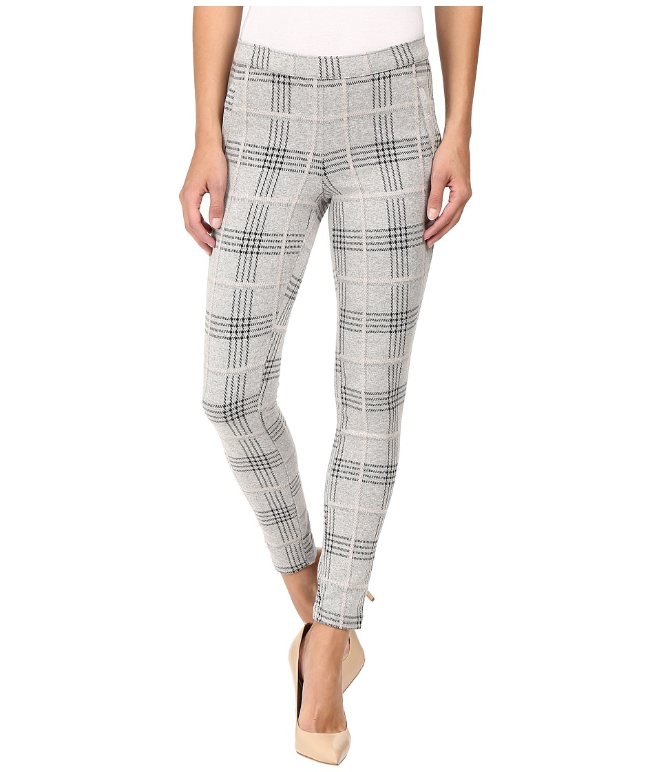 HUE - Glen Plaid Loafer Skimmer (Light Grey Heather) Women's Clothing