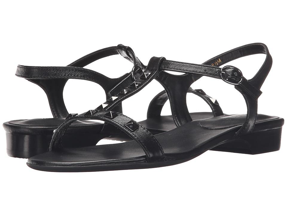 Vaneli - Beng (Black Nappa/Gunmetal Trim) Women's Sandals