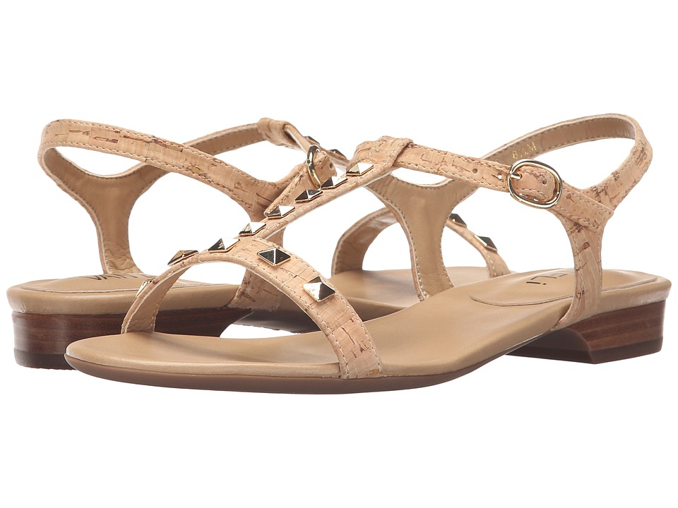 Vaneli - Beng (Natural Cork/Gold Trim) Women's Sandals