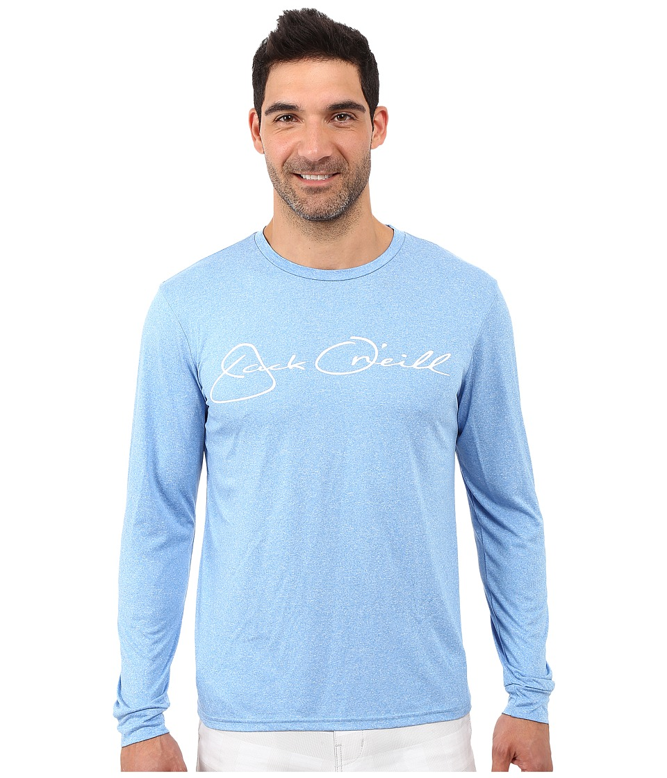 Jack O'Neill - Signature Long Sleeve Screen Tee (Blue) Men's Long Sleeve Pullover