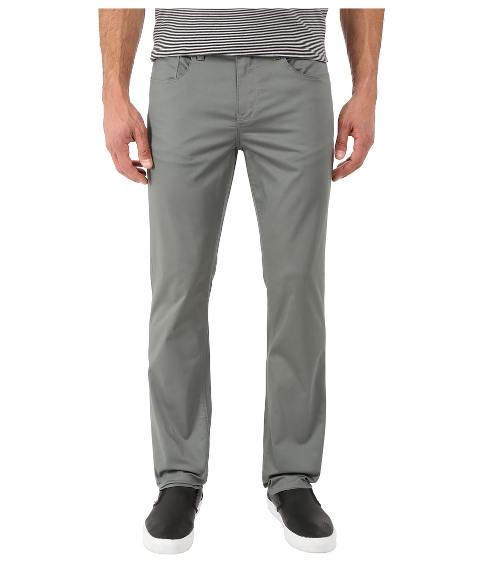 Perry Ellis - Slim Fit Solid Sateen Five-Pocket Pants (Castor Gray) Men's Casual Pants