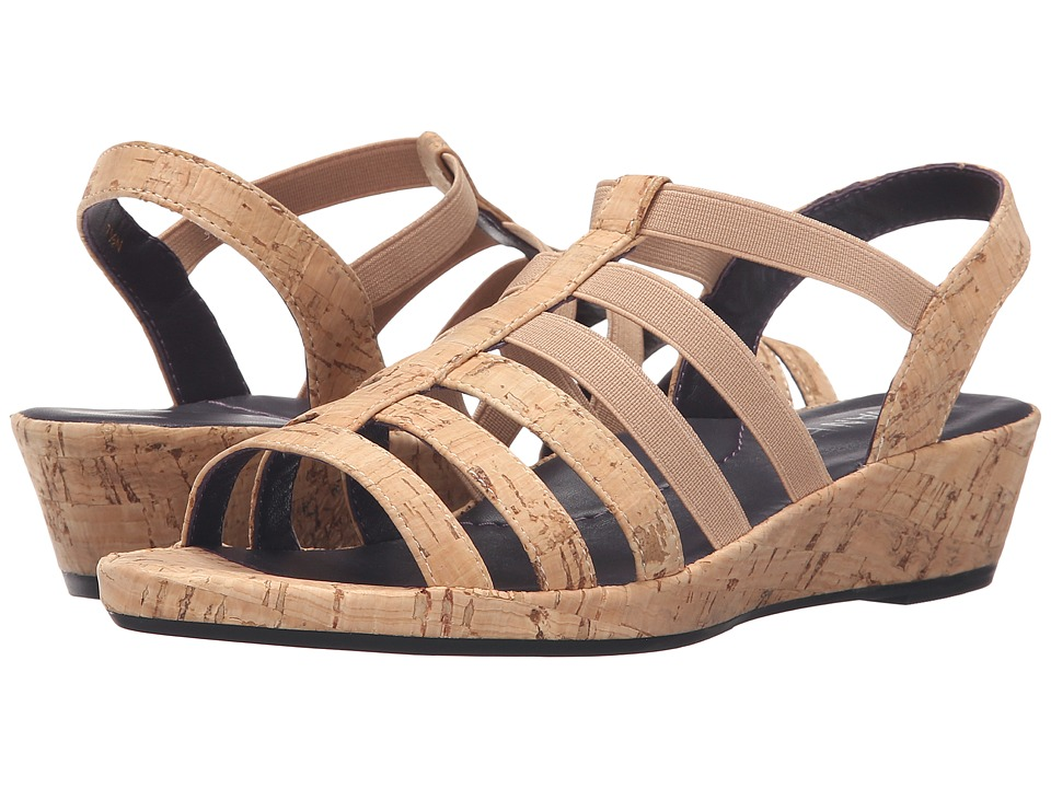 Vaneli - Darena (Natural Cork/Match Elastic) Women's Sandals