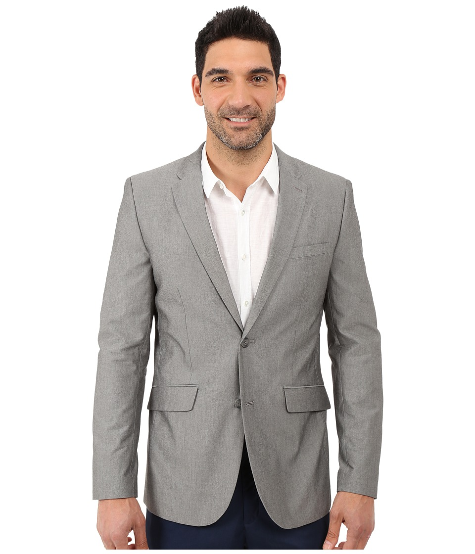 Perry Ellis - Slim Fit Chambray Suit Jacket (Alloy) Men's Coat