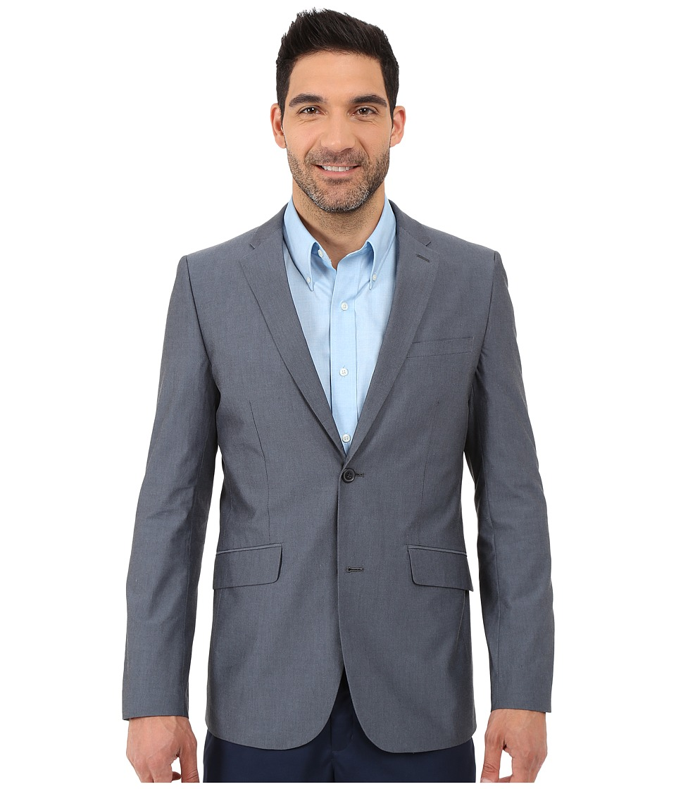 Perry Ellis - Slim Fit Chambray Suit Jacket (Navy) Men's Coat