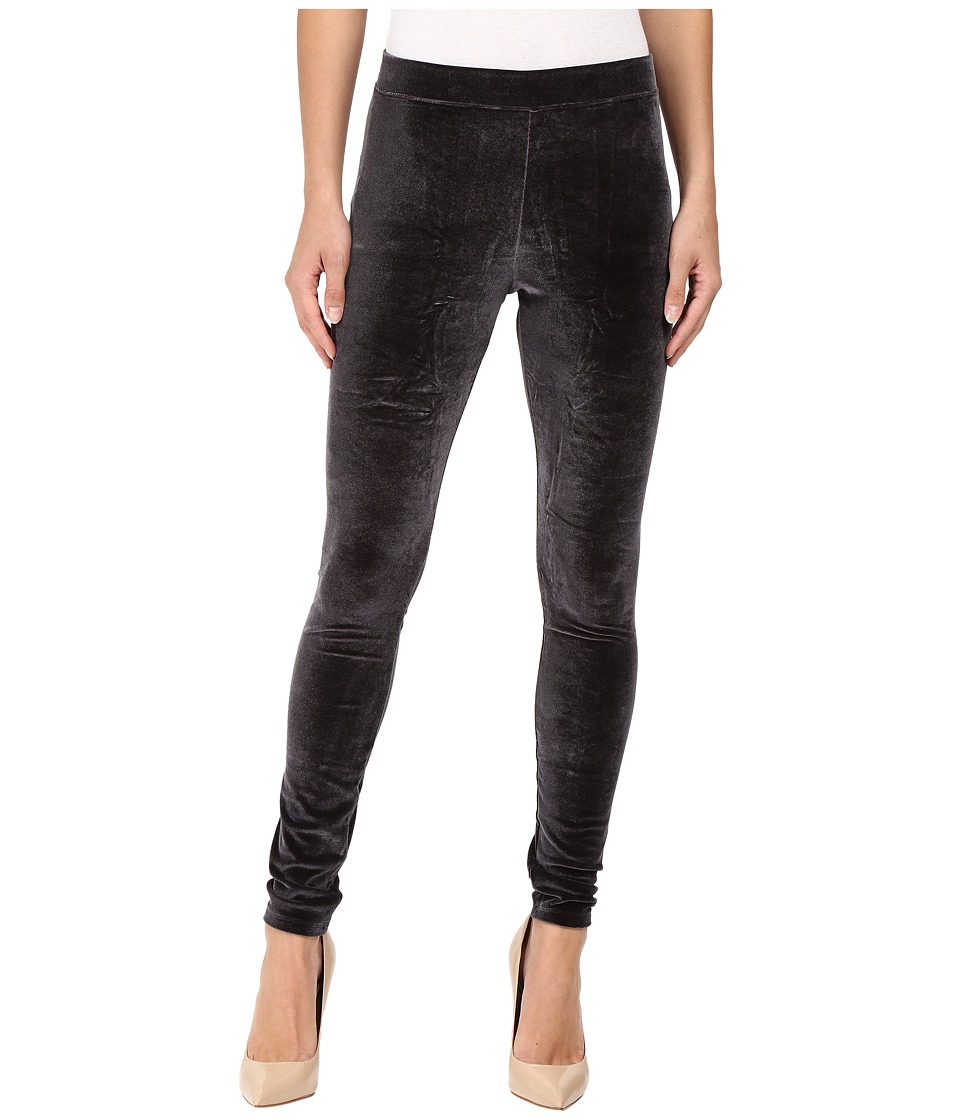HUE - Velvet Leggings (Black) Women's Casual Pants