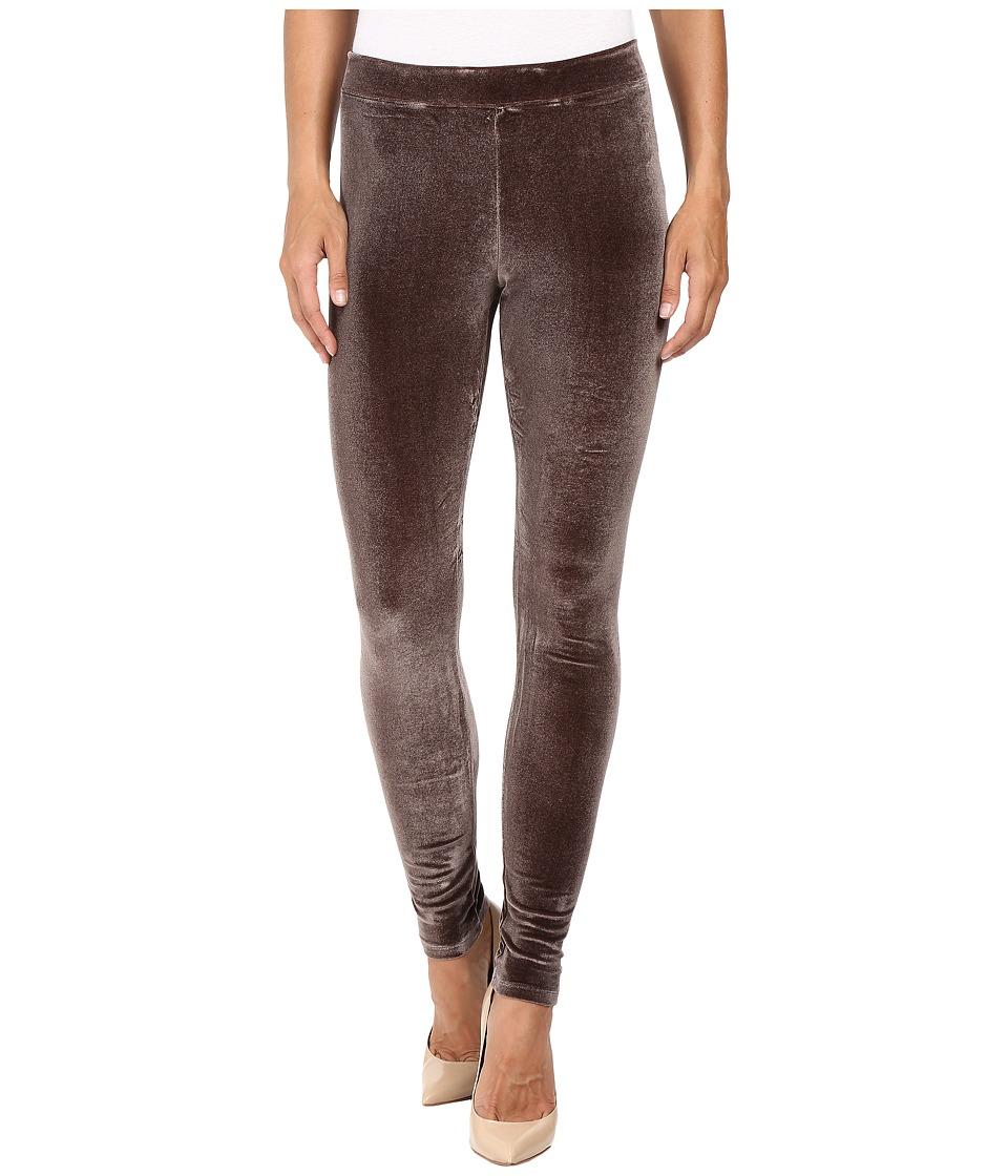 HUE - Velvet Leggings (Espresso) Women's Casual Pants