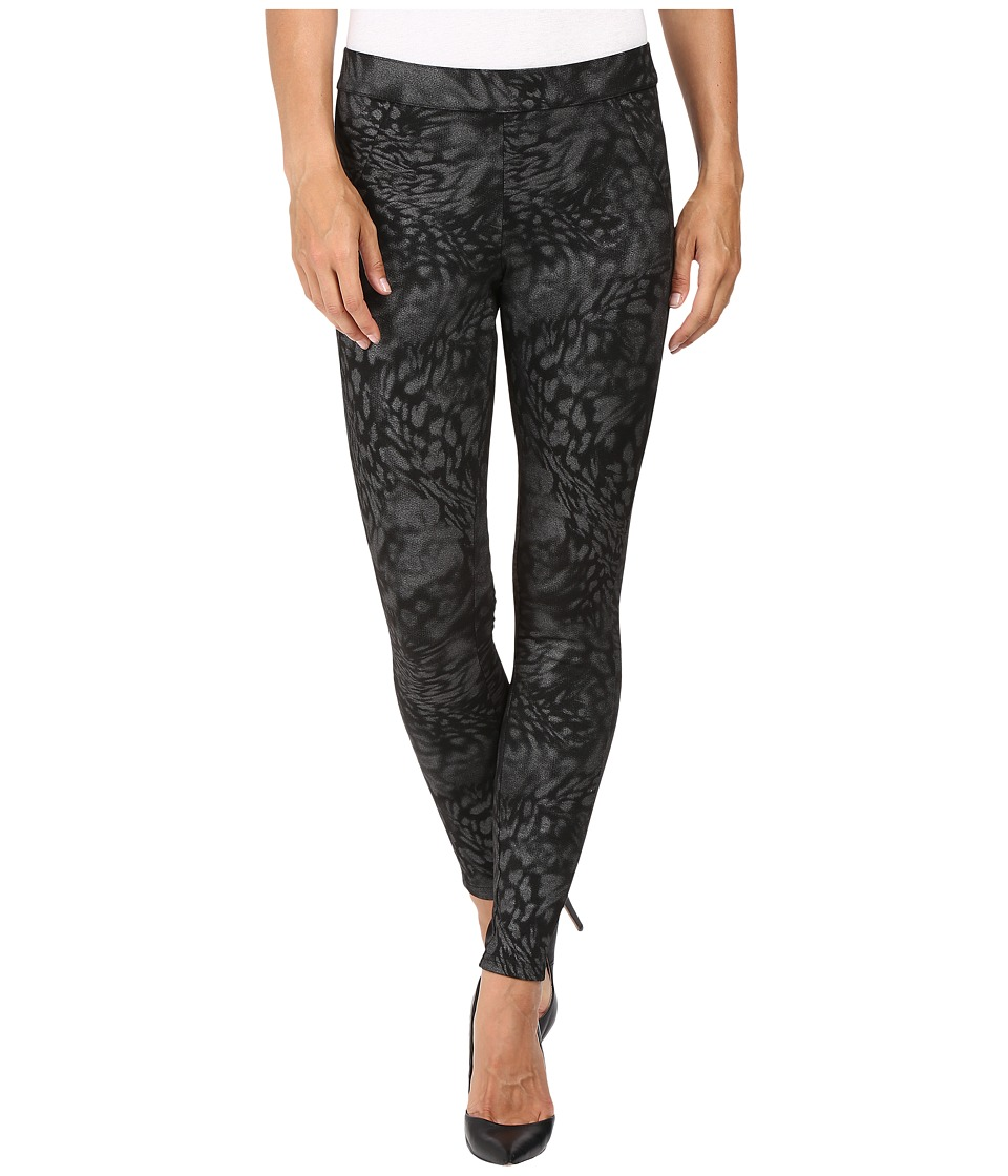 HUE - Monarch Foil Leggings (Black/Silver) Women's Casual Pants