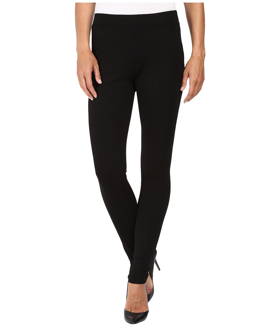 HUE - Fleece Lined Ponte Leggings (Black) Women's Casual Pants
