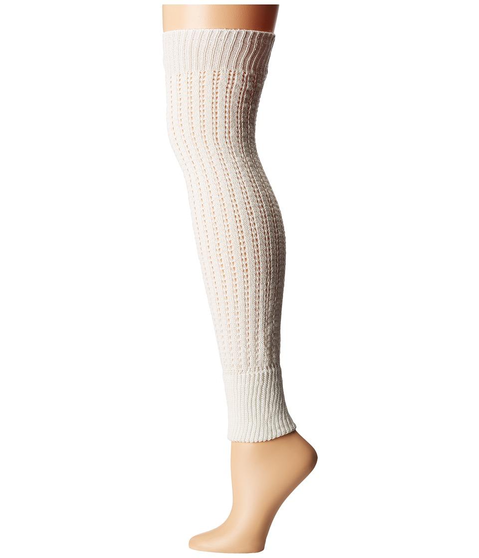 HUE - Openwork Legwarmer (Ivory) Women's Crew Cut Socks Shoes