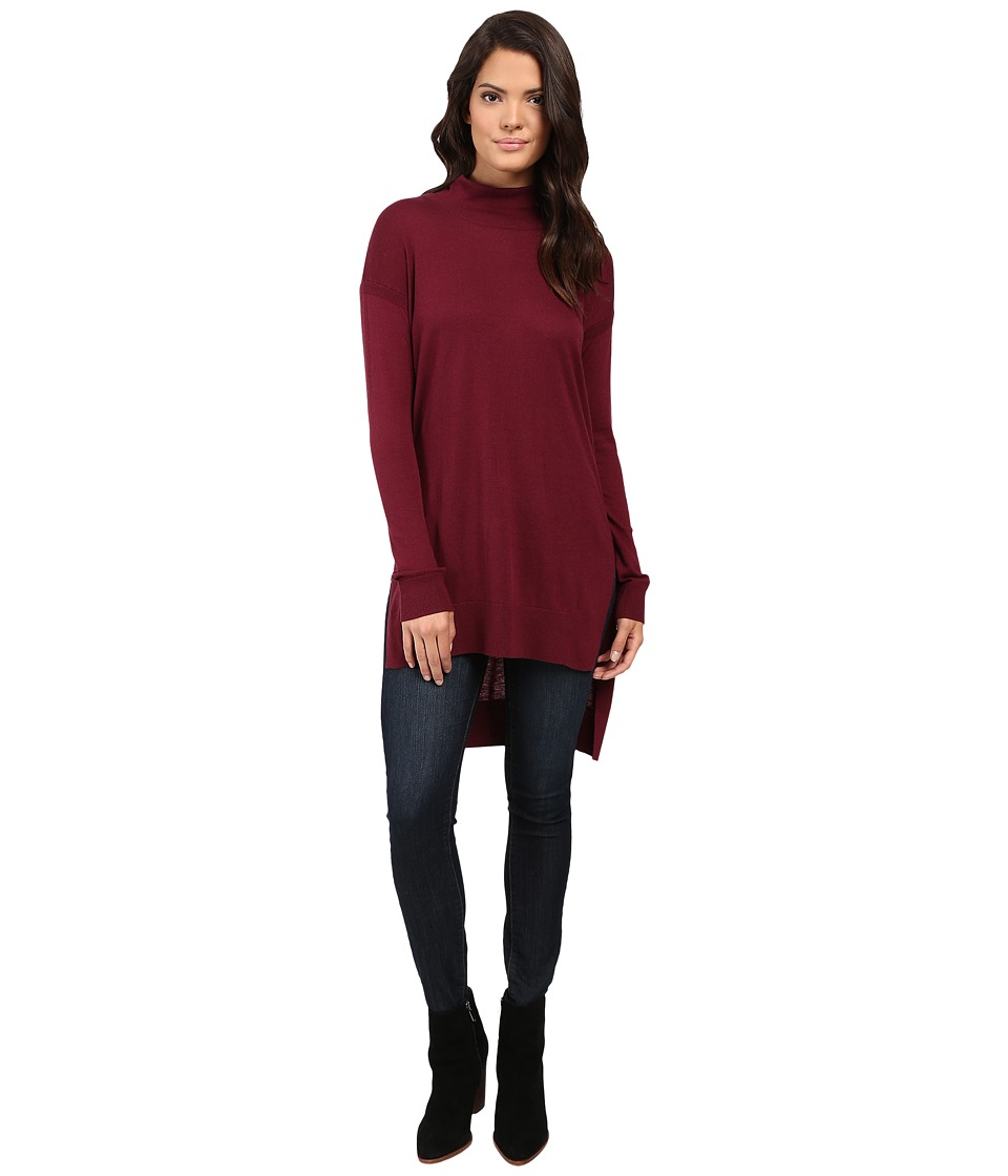 Splendid - Cashmere Blend Turtleneck Tunic (Cranberry) Women's Sweater