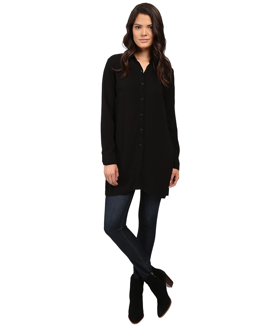 Splendid - Rayon Voile Tunic (Black) Women's Blouse