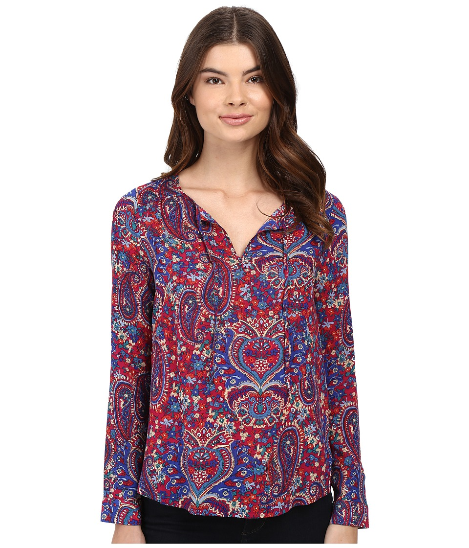 Splendid - Kloe Paisley Blouse (Cranberry) Women's Blouse