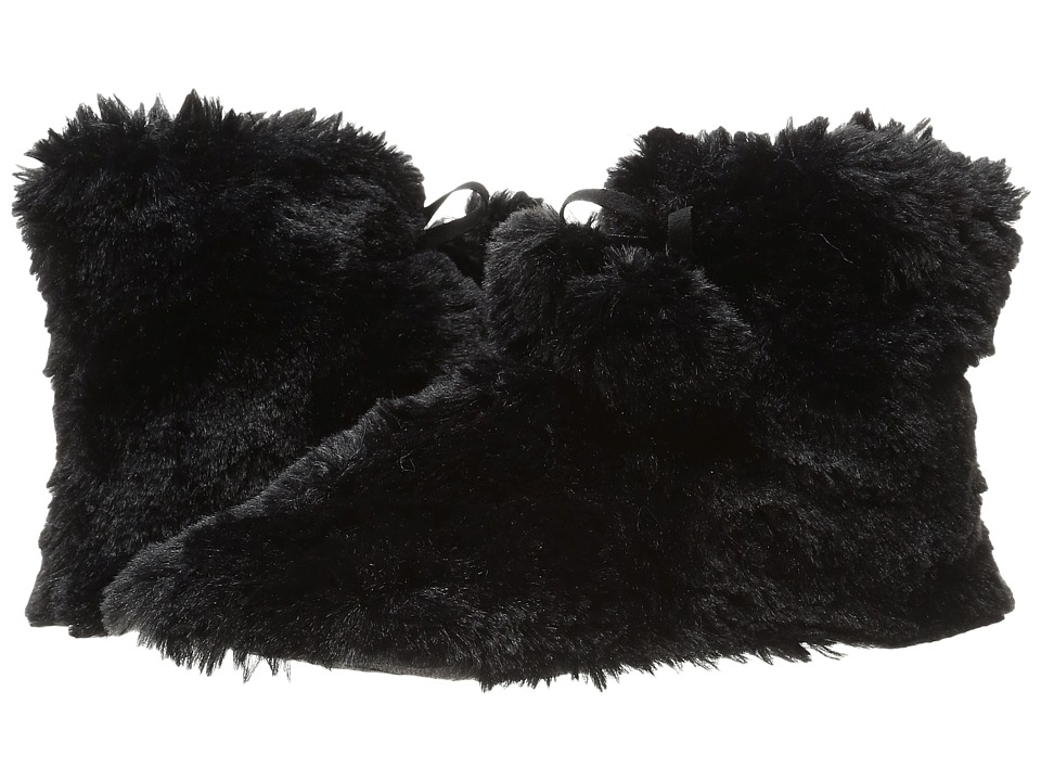 HUE - Furry Bootie (Black) Women's Slippers