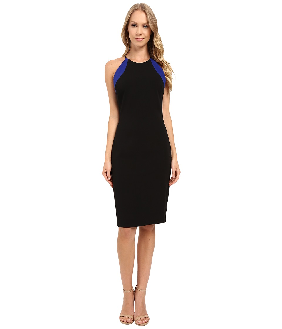 Badgley Mischka - Kate Racer Cocktail (Black Cobalt) Women's Dress