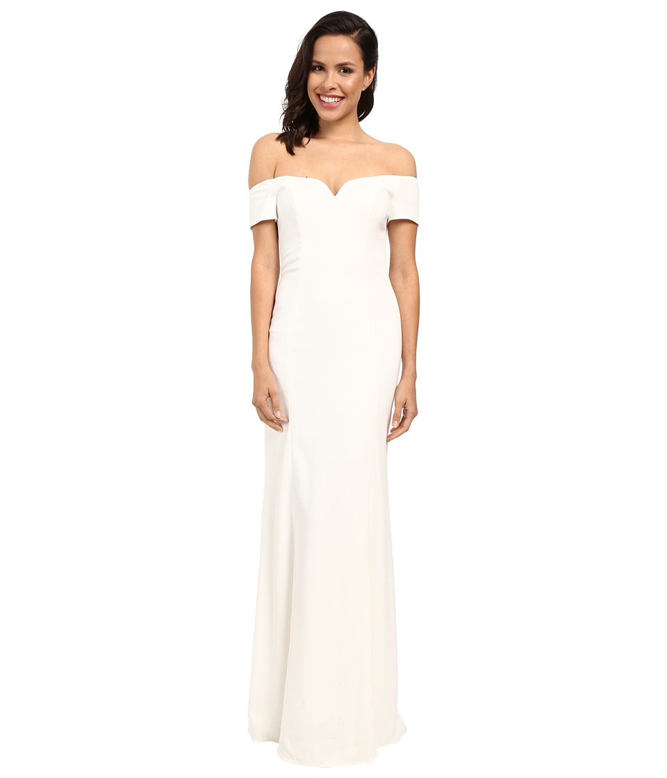 Badgley Mischka - Off Shoulder Short Sleeve Gown (Ivory) Women's Dress