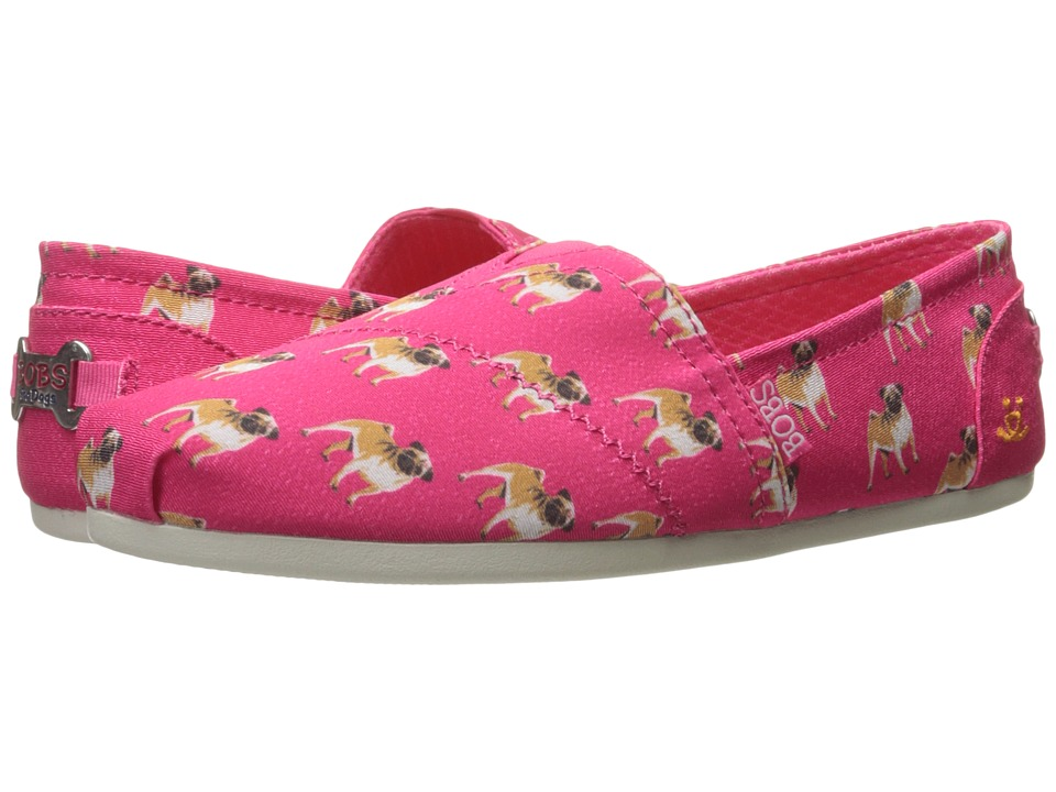 BOBS from SKECHERS - Bobs Plush - Pup Smarts (Hot Pink 1) Women's Slip on Shoes