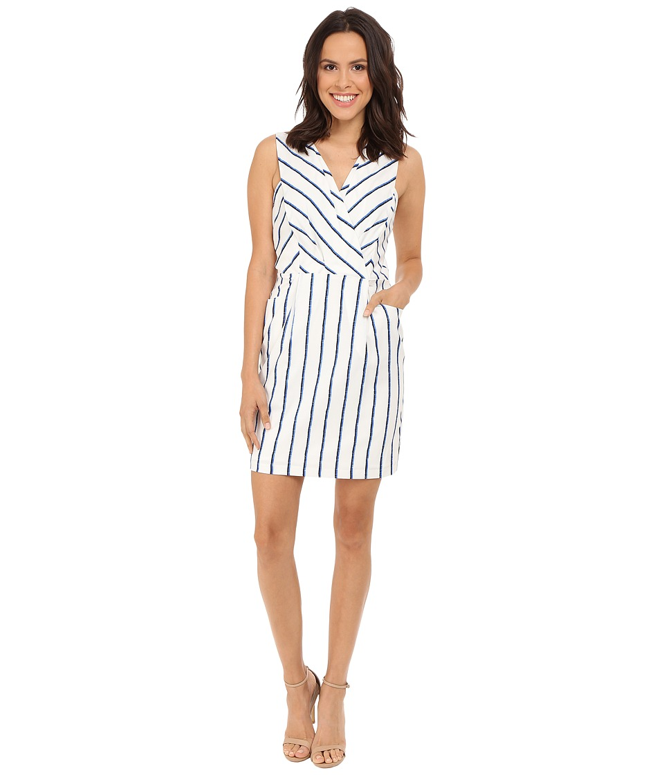 Adelyn Rae - Striped Dress (White/Blue) Women's Dress