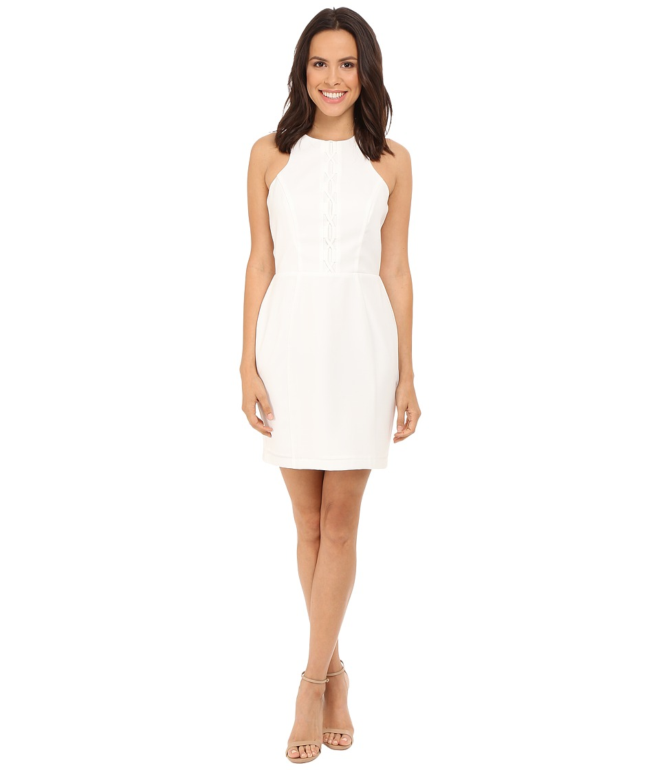 Adelyn Rae - Fitted Tie Up Dress (White) Women's Dress
