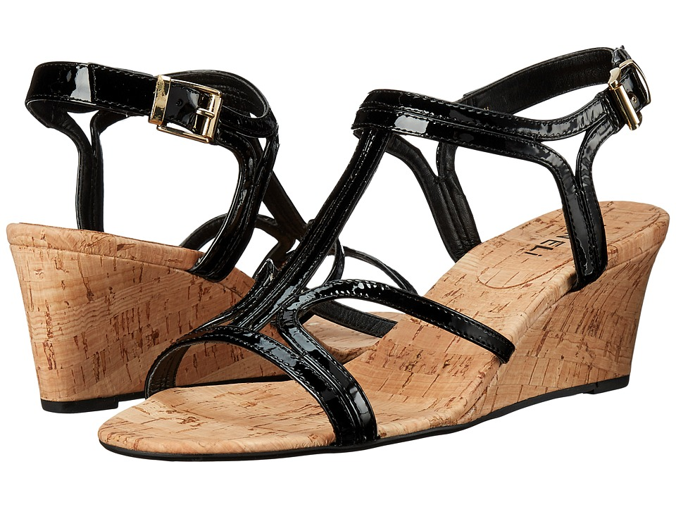 Vaneli - Merope (Black Mag Patent) Women's Wedge Shoes